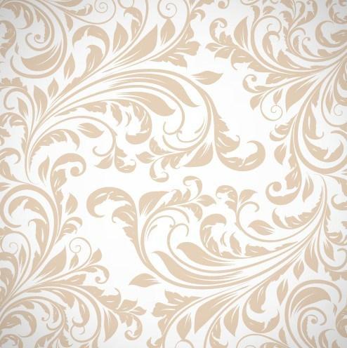 494x496 Free Light Brown Floral Swirls Pattern Vector