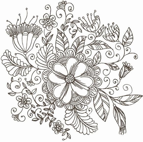 582x575 Free Vector Swirls Vector Line Drawing Swirl Flower Pattern