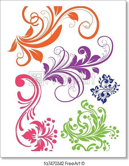 450x580 Free Art Print Of Swirl Pattern Vector Freeart Fa7470342