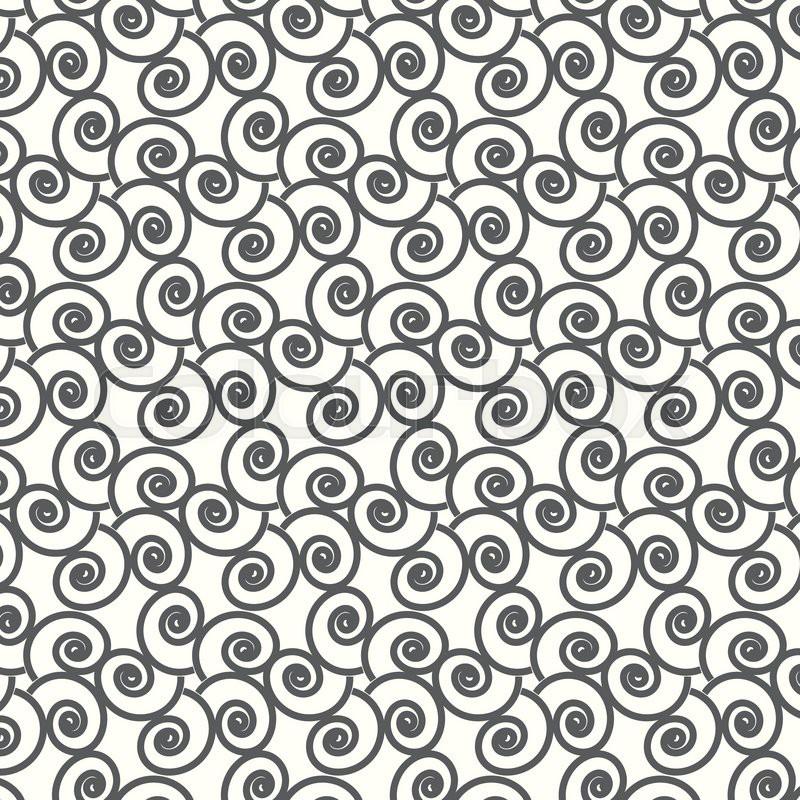 800x800 Seamless Vector Swirl Wave Japanese Pattern Background Stock