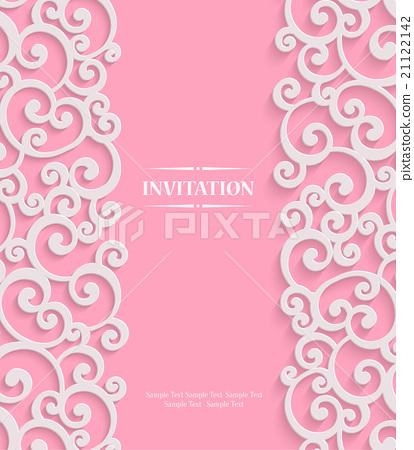 414x450 Vector Pink 3d Vintage Background Swirl Pattern