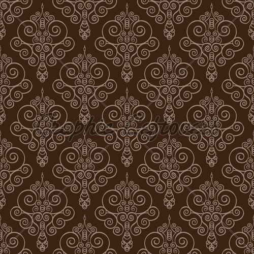 500x500 Vector Swirl And Circles Seamless Pattern Gl Stock Images