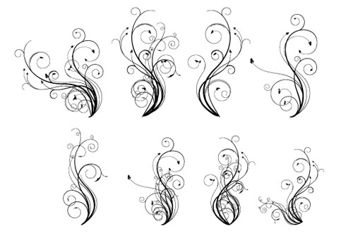 500x338 30 Free Swirl,curly And Floral Vectors For Designers Designbeep