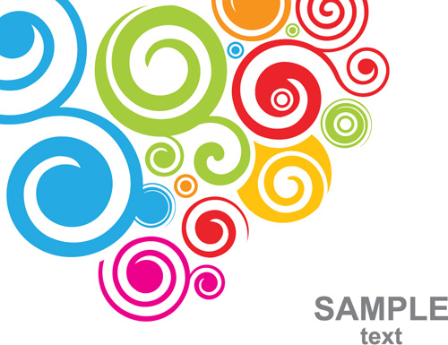 500x385 Set Of Colored Swirl Vector Backgrounds Art Free Vector In