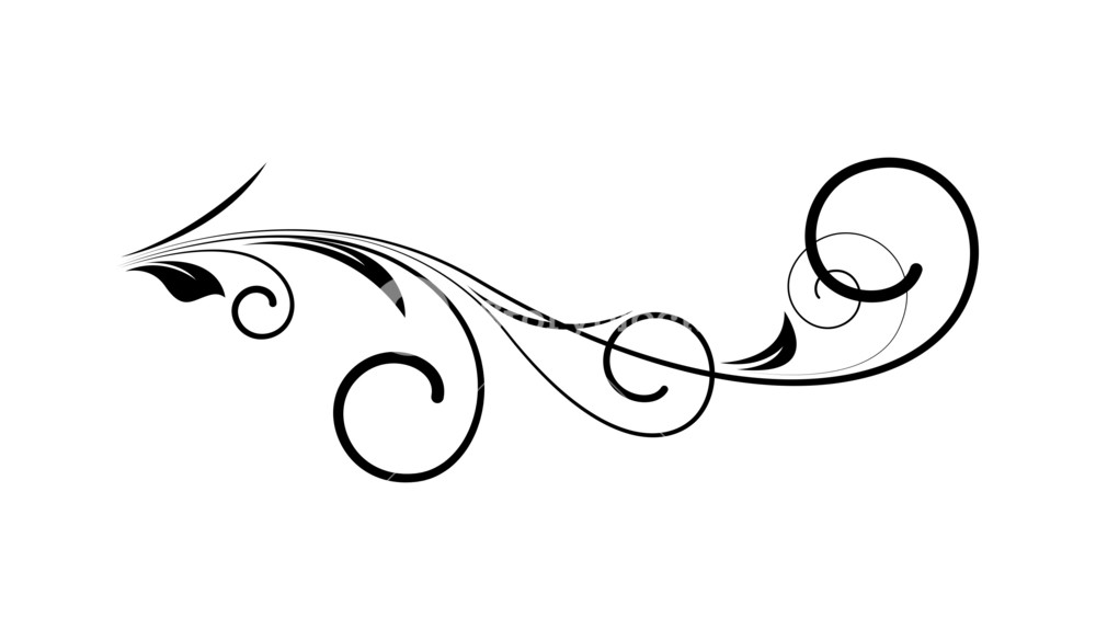 1000x584 Swirl Elements Vector Art Royalty Free Stock Image