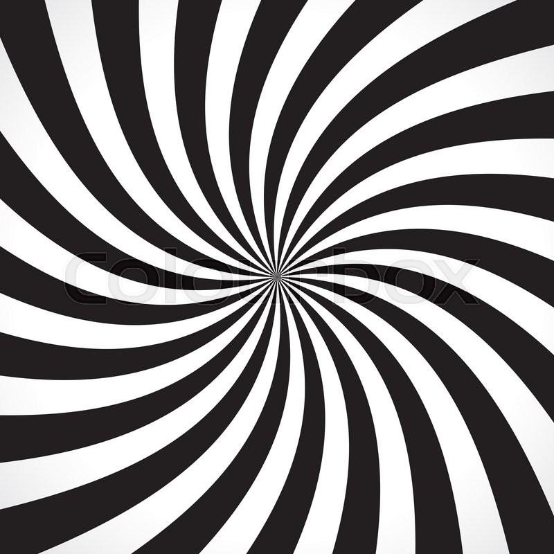 800x800 Swirling Radial Pattern Background. Vector Illustration For Swirl