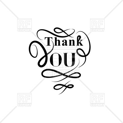 400x400 Thank You Greeting Card With Handwritten Lettering And Swirl