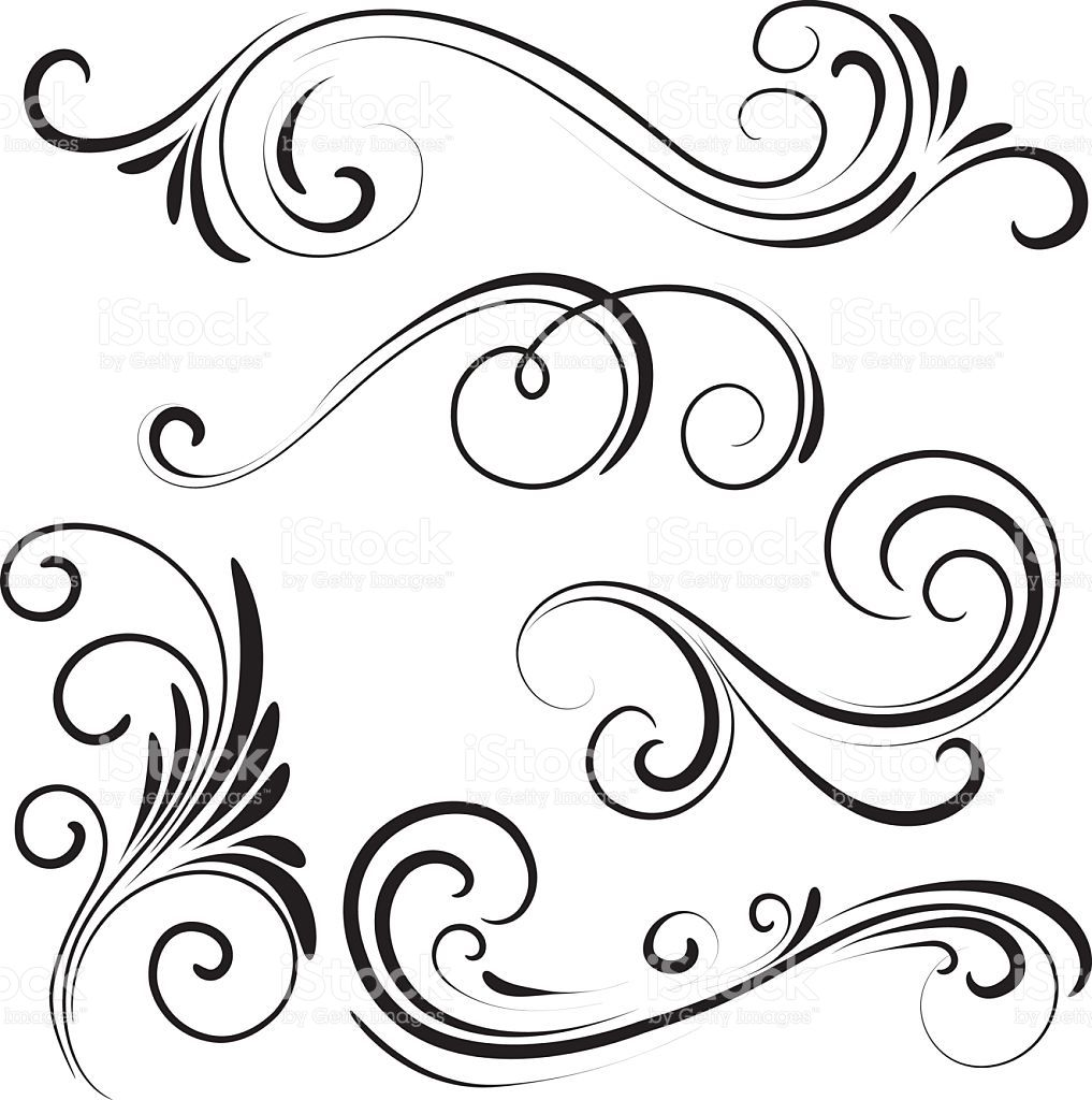 1017x1024 Swirl Vector Id531238078 Flowers, Tree, Flourish