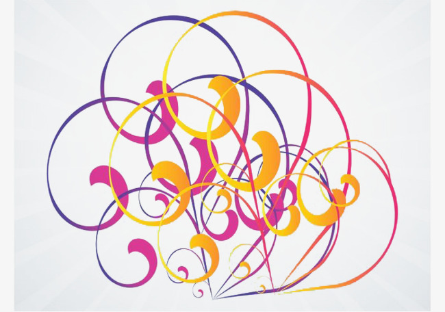 650x456 Colorful Swirl Vector Art, Colorful, Abstract, Irregular Lines Png