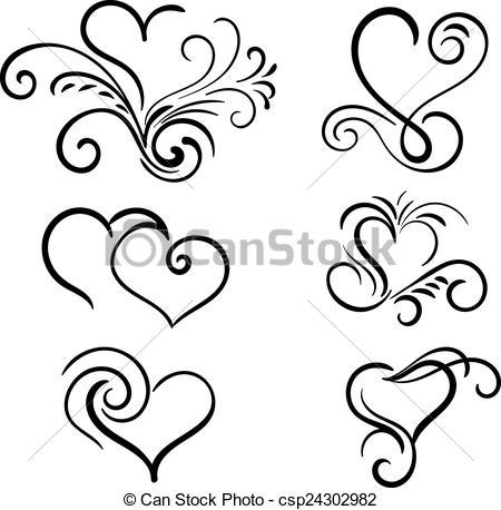 450x458 Drawn Swirl Clip Art