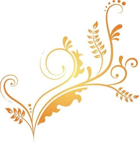 487x498 Elegant Swirl Free Vector Art