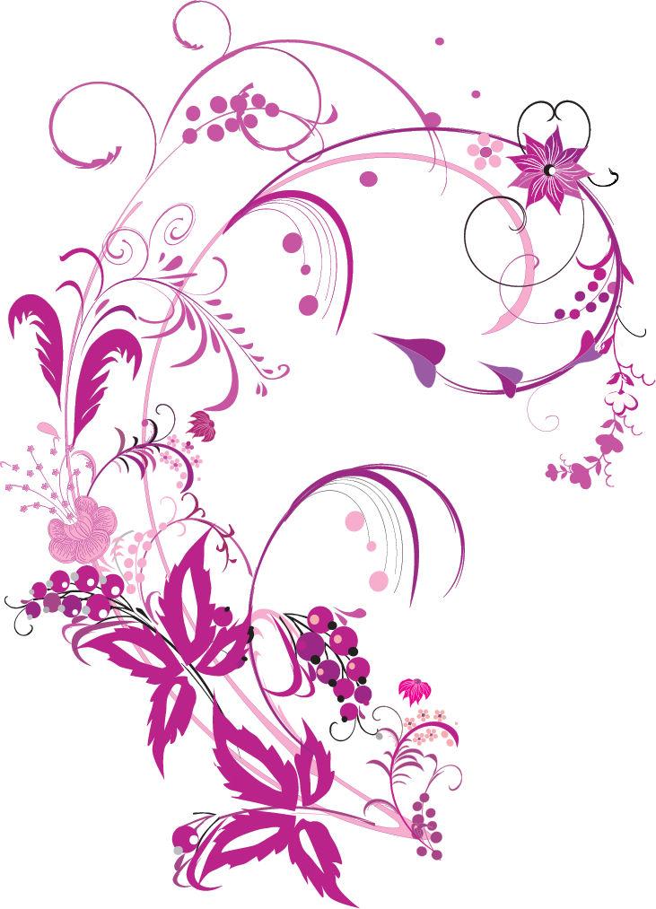 731x1013 Floral Vector Clip Art Free Download