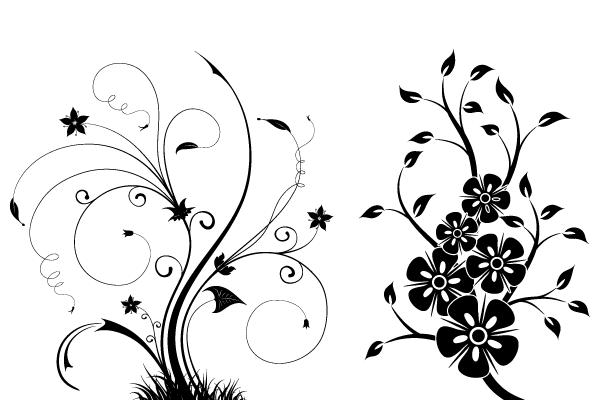 600x400 Free Floral Swirls Vector Illustrator 123freevectors