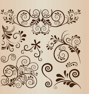 348x368 Free Vector Floral Swirls Download Free Vector Download (9,729