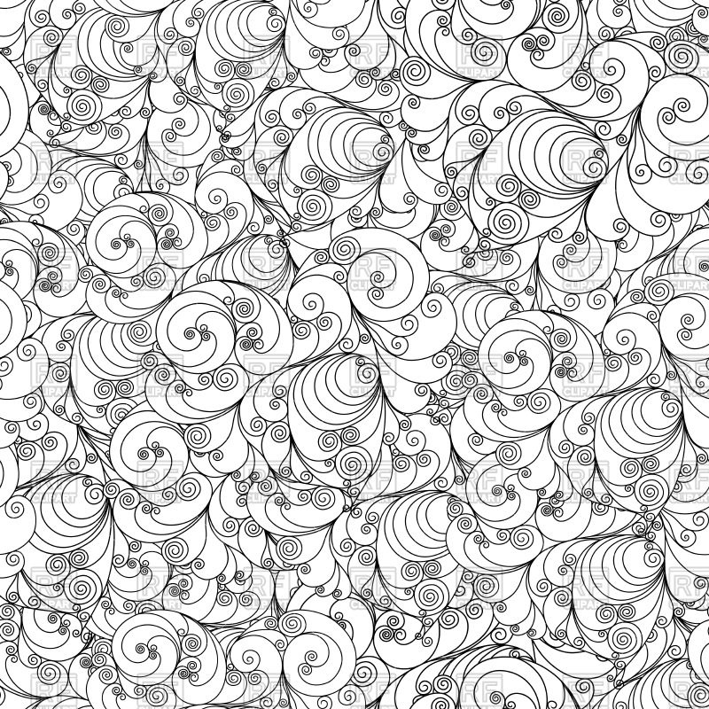 800x800 Seamless Floral Pattern With Swirls Vector Image Vector Artwork