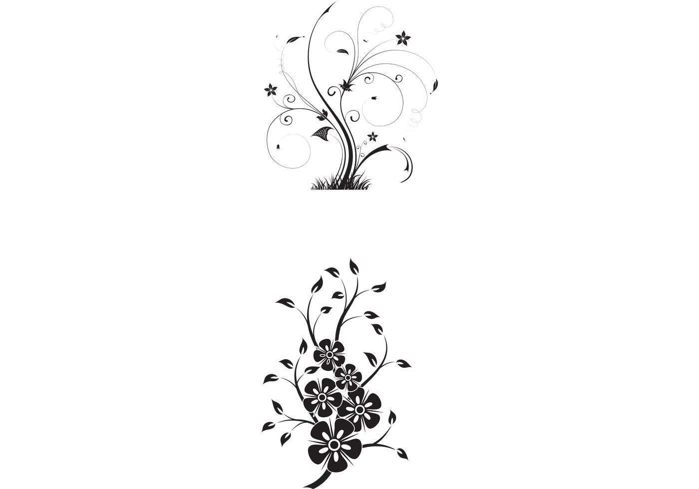 1400x980 Top Floral Swirls Vector Library Free Vector Art, Images