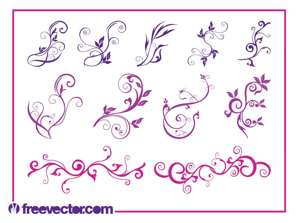 1024x765 Beautiful Flower Swirls Vector Art Amp Graphics