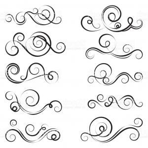 300x300 Calligraphic Design Elements Swirls Vector Illustration Gm Lazttweet