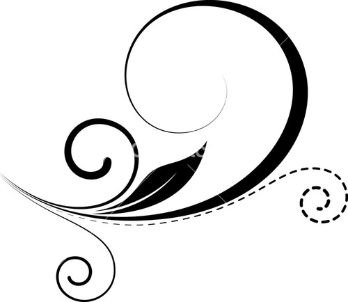 500x434 Calligraphy Swirls Royalty Free Vectors, Illustrations And