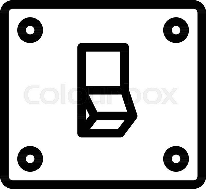 800x734 Light Power Switch Stock Vector Colourbox