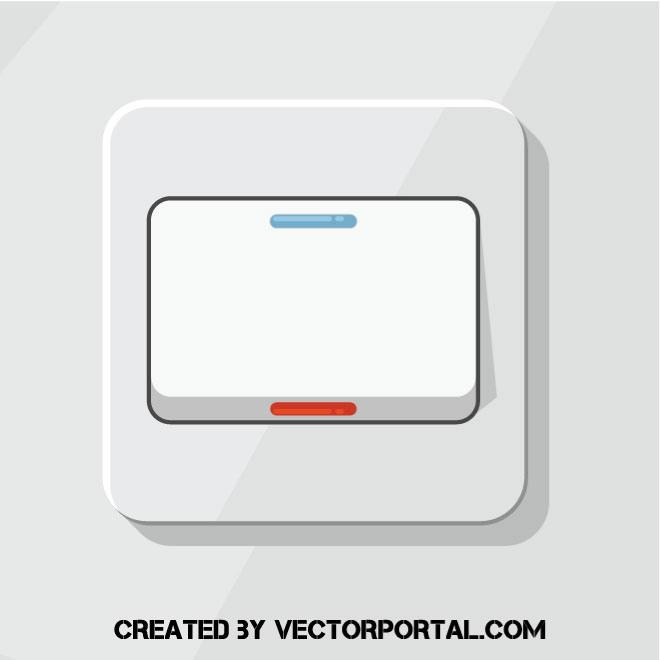 660x660 Light Switch Vector Image
