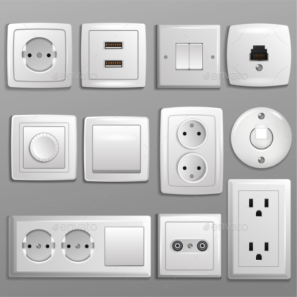 590x590 Socket And Switch Vector By Vectoristik Graphicriver