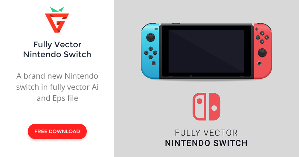 1000x525 Fully Vector Nintendo Switch