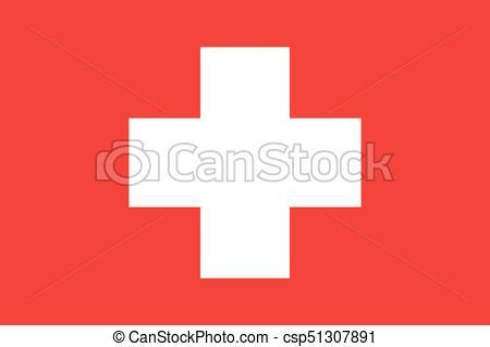 450x319 Switzerland Flag Vector Illustration. Switzerland Flag. National