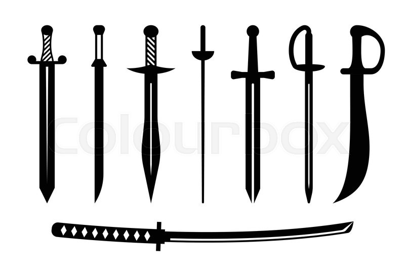 800x533 Vector Sword Ancient Weapon Design Stock Vector Colourbox