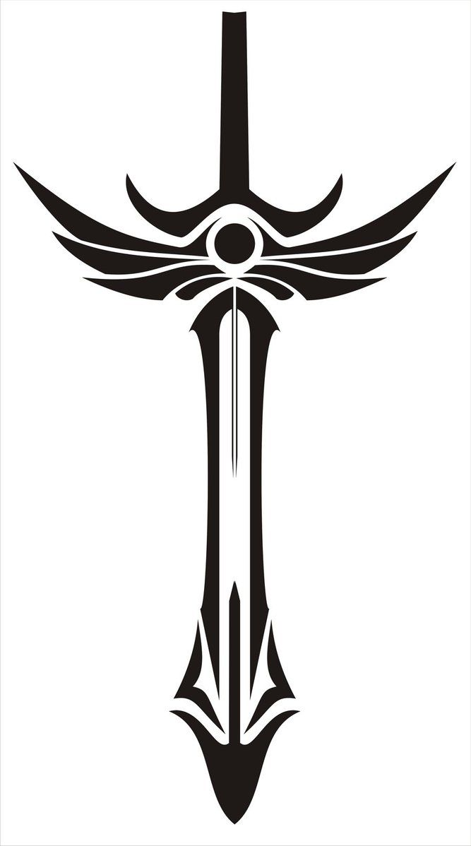 667x1198 Collection Of Sword Emblem Tattoo Graphic
