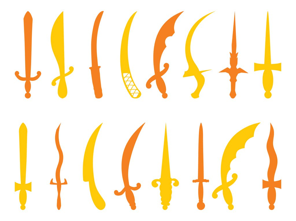 1024x765 Antique Swords Silhouettes Vector Art Amp Graphics