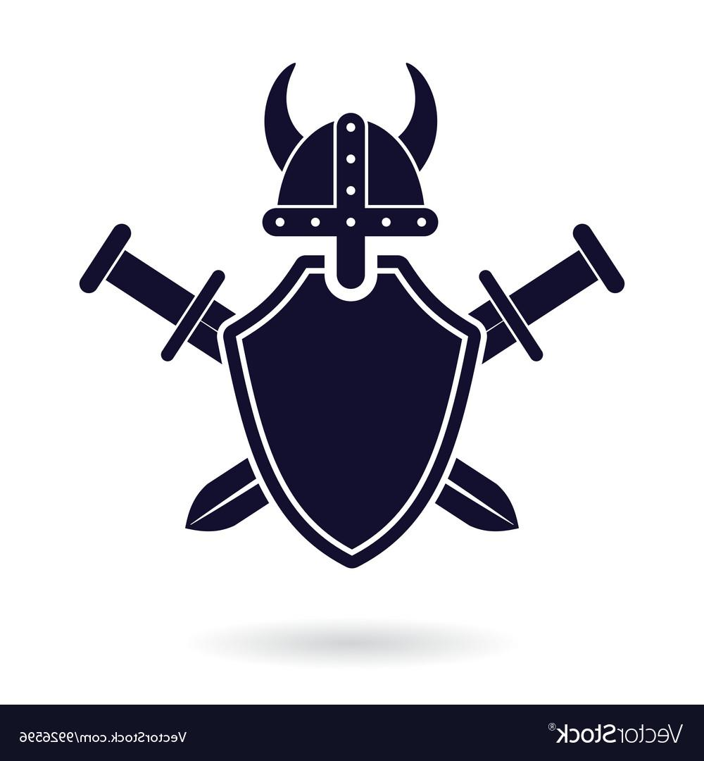 1000x1080 Best Free Viking Shield Sword Vector Design