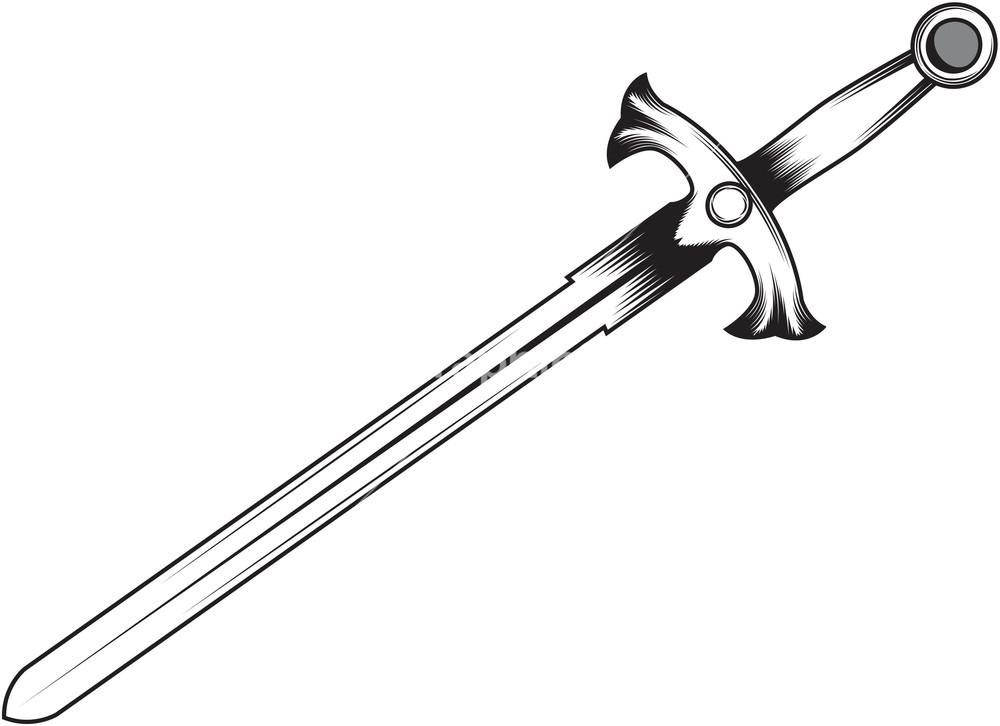 1000x726 Sword Vector Free Download