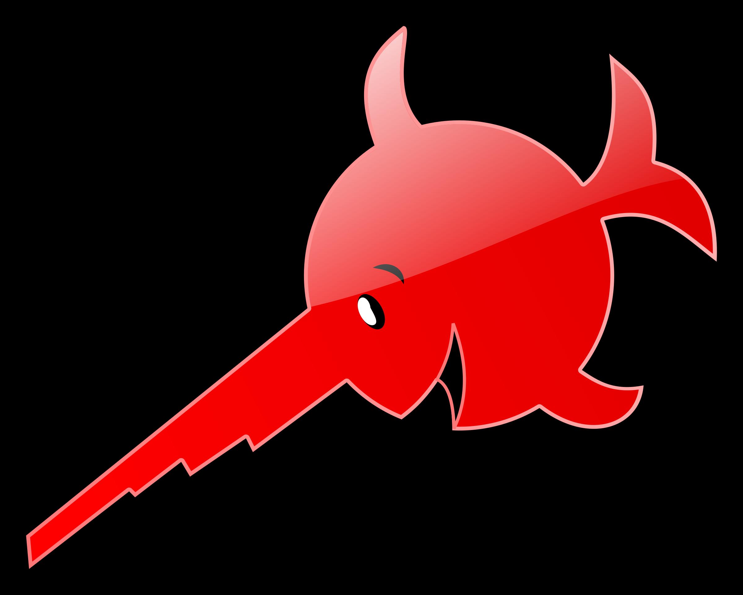 2400x1922 Red Swordfish Vector Clipart Image