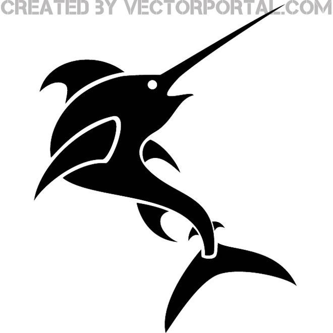 660x660 Swordfish Vector Clip Art Image