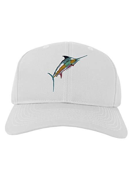 466x595 Tooloud Colorful Vector Swordfish Adult Baseball Cap