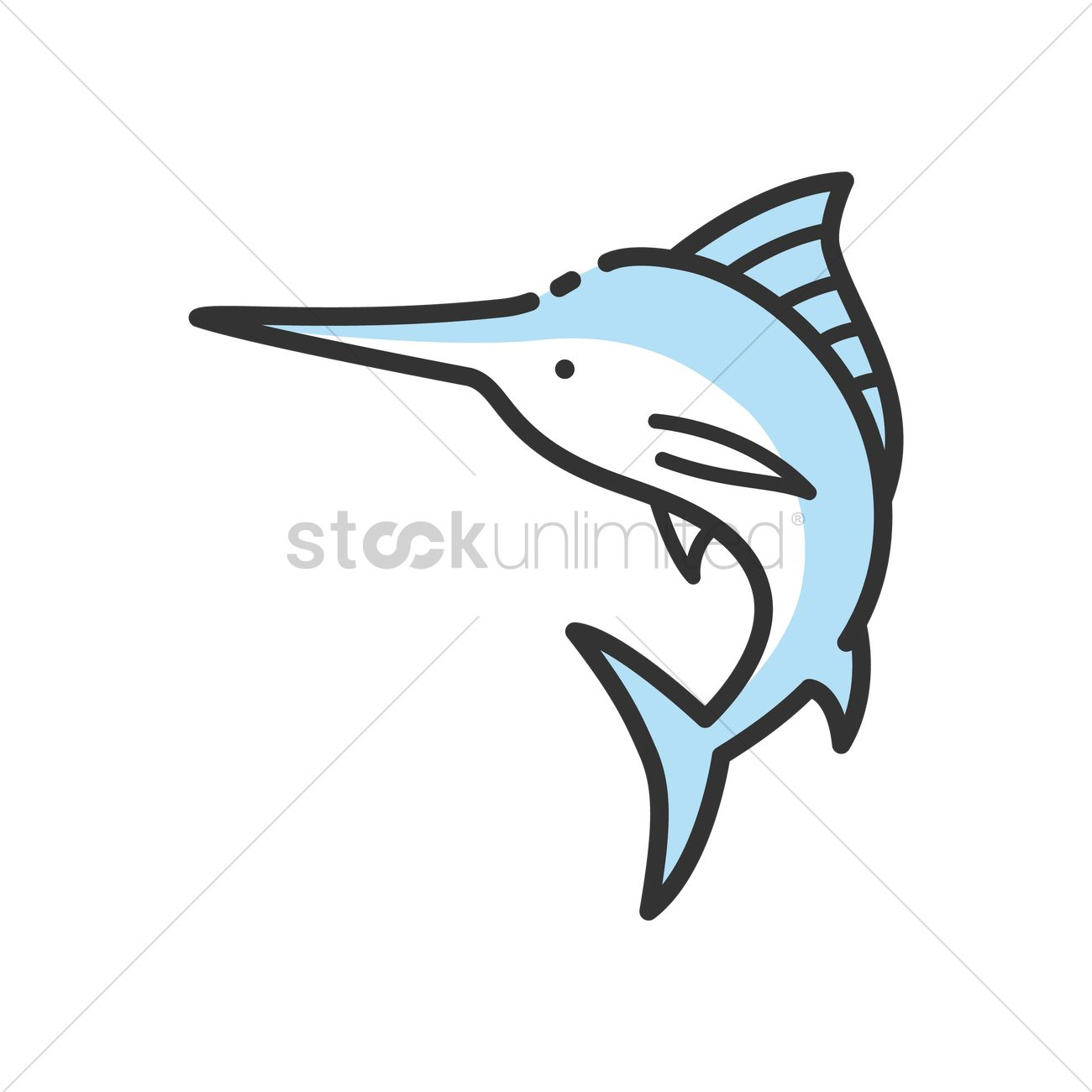 1300x1300 Swordfish Vector Image