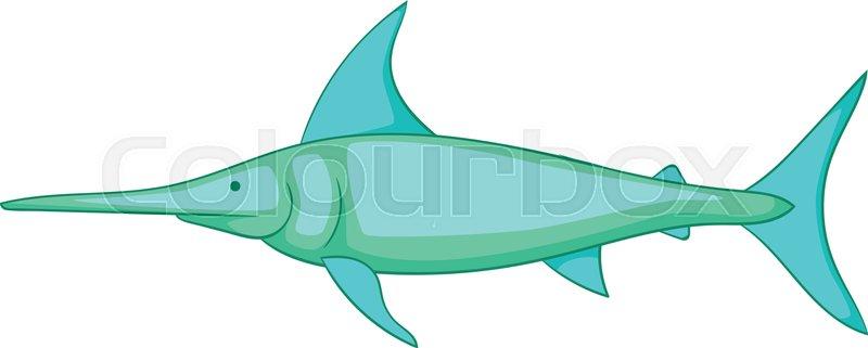 800x321 Swordfish Icon. Cartoon Illustration Of Swordfish Vector Icon For