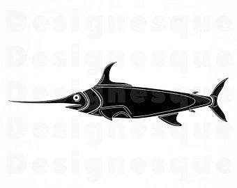 340x270 Swordfish Vector Etsy