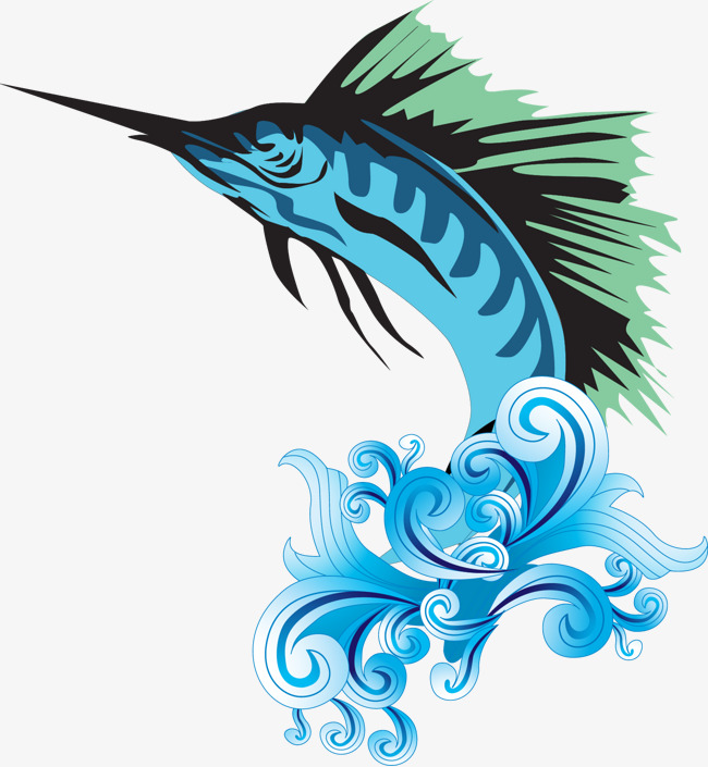 650x705 Vector Fish, Light Rain, Swordfish, Blue Png And Vector For Free