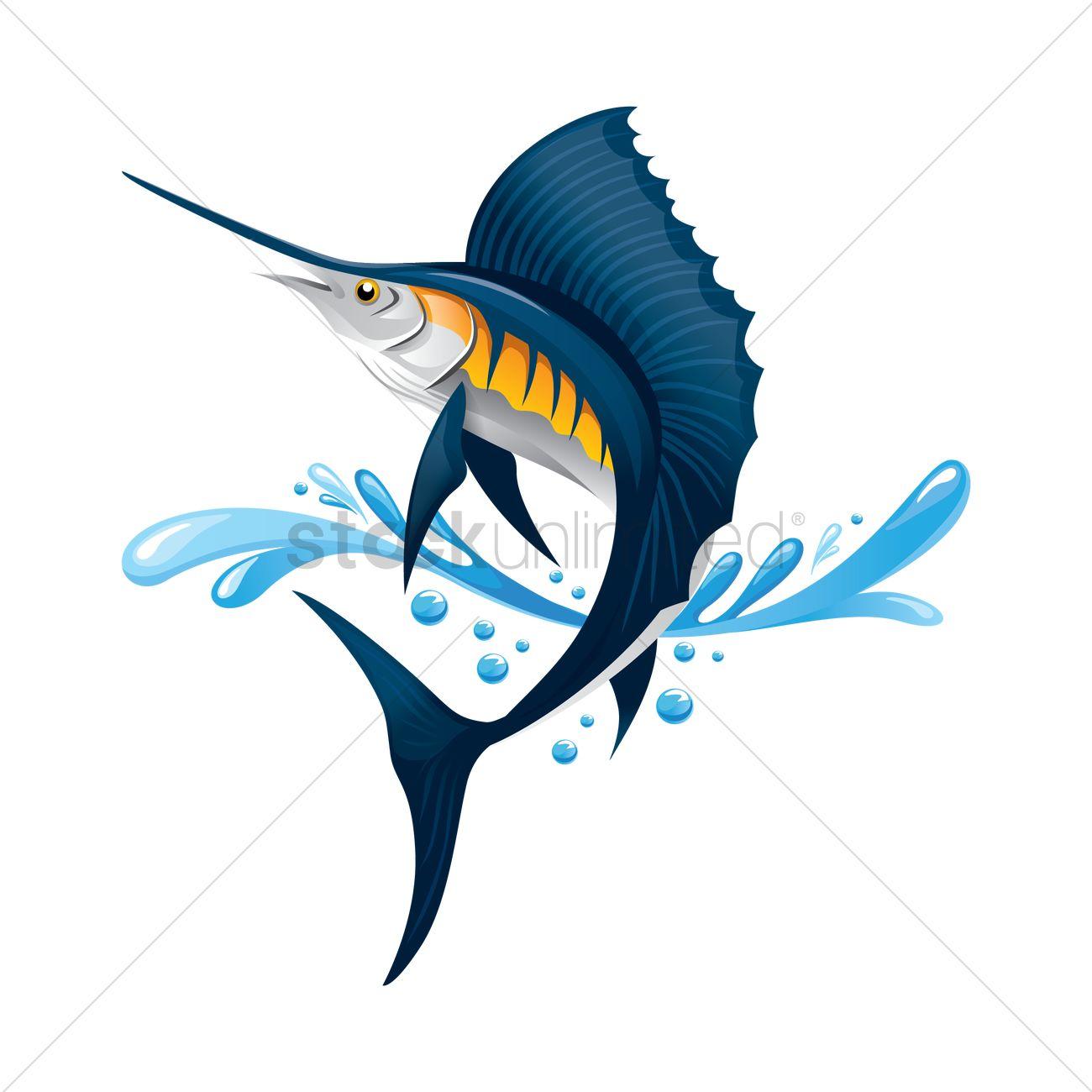 1300x1300 Free Swordfish Vector Image