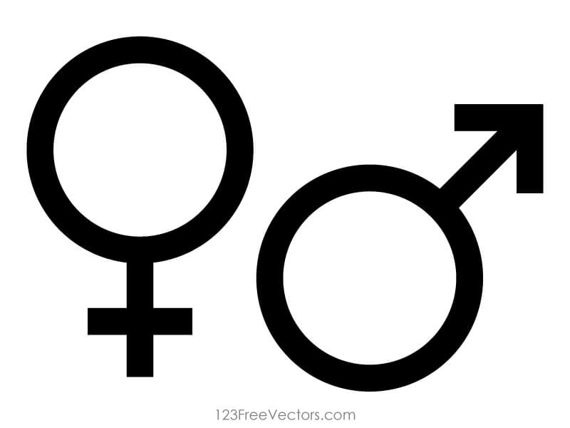 800x600 Male And Female Gender Symbols Vector 123freevectors