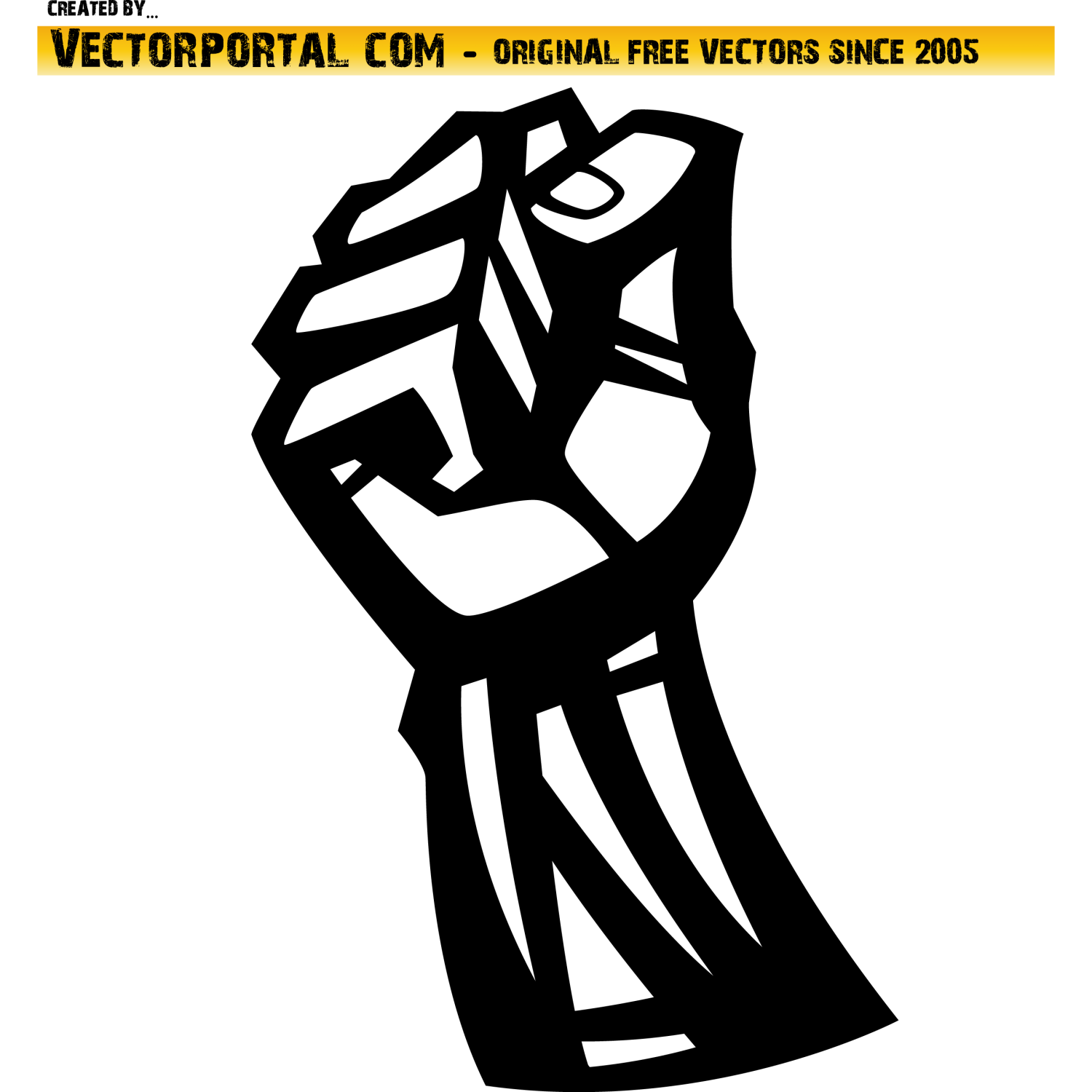 1500x1500 Vector For Free Use Fist