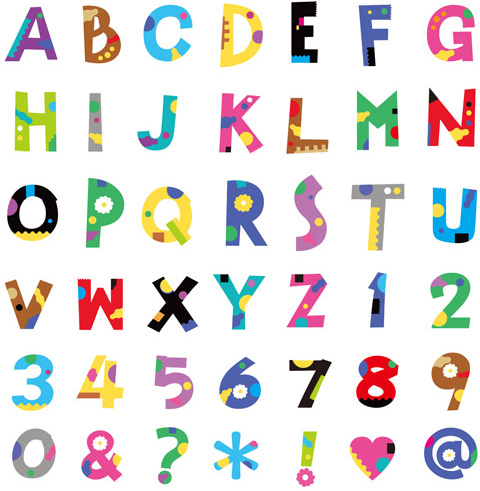 480x491 Cute Color Numbers With Alphabet And Symbol Vector Free Vector In