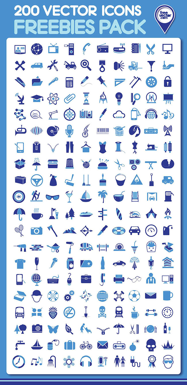 650x1335 Free Download 200 Vector Icons