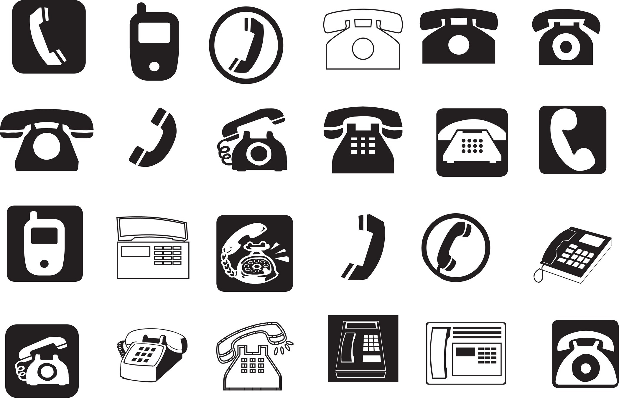 2100x1349 Phone Icon Vector Free Download