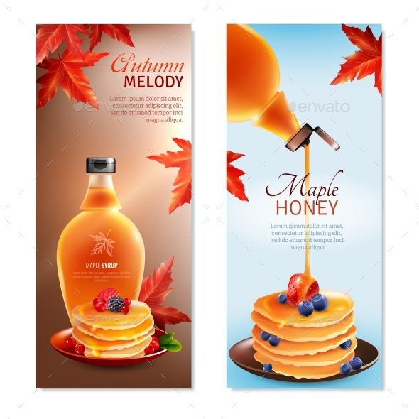 590x590 Maple Syrup Vertical Banners Set Maple Syrup, Syrup