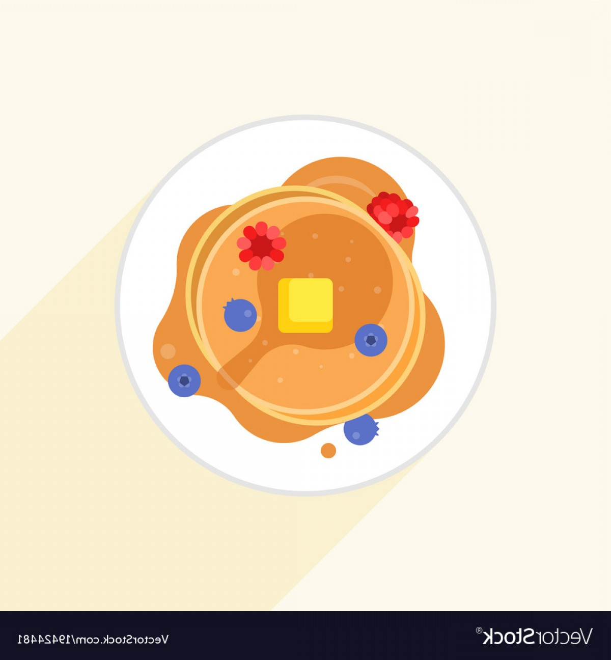 1200x1296 Pancake Icon It Aerial View With Maple Syrup Vector Shopatcloth