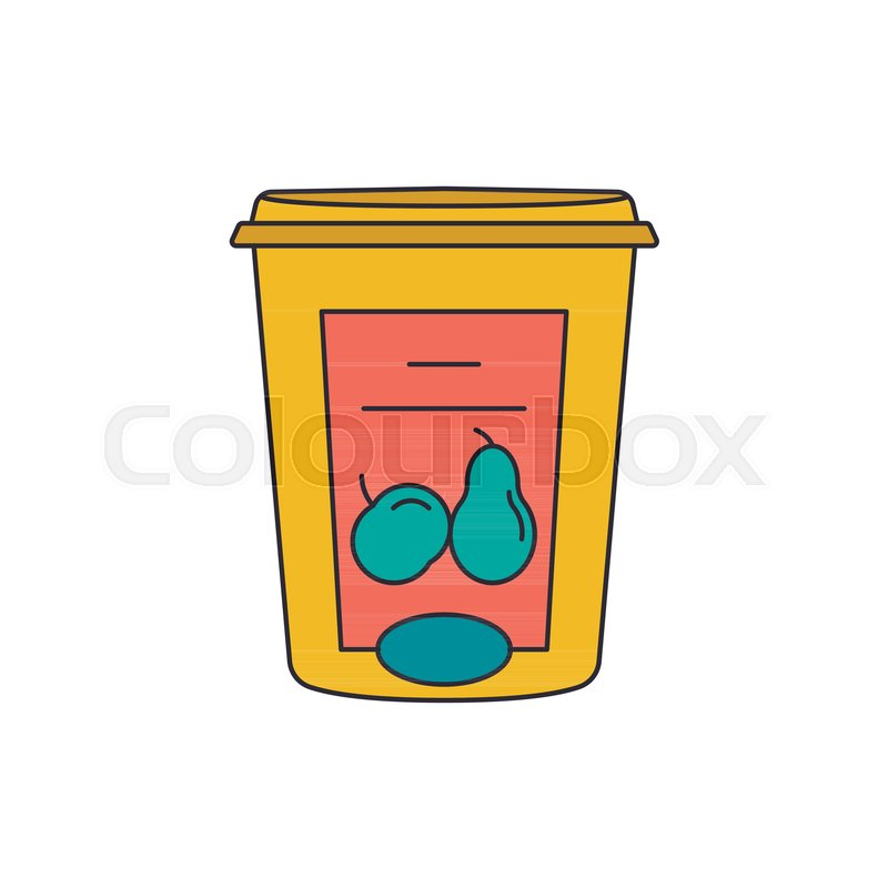 800x800 Syrup Icon. Cartoon Syrup Vector Icon For Web Design Isolated On