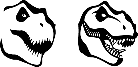 446x217 T Rex Graphics By Insanomonkey